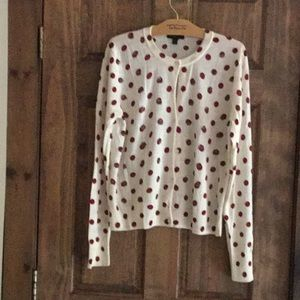 JCrew ladies polka dot cardigan. XL